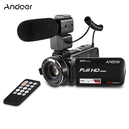 Opt Zoom 3 Lcd (Andoer HDV-Z82 1080P Full HD 24MP Digital Video Camera Camcorder with External Mic Remote Control 3