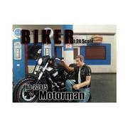 American Diorama 23915 Biker Motorman Figure for 1-24 Scale Models