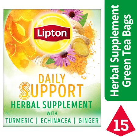 lipton herbal supplement with green tea daily support 15 ct. Black Bedroom Furniture Sets. Home Design Ideas