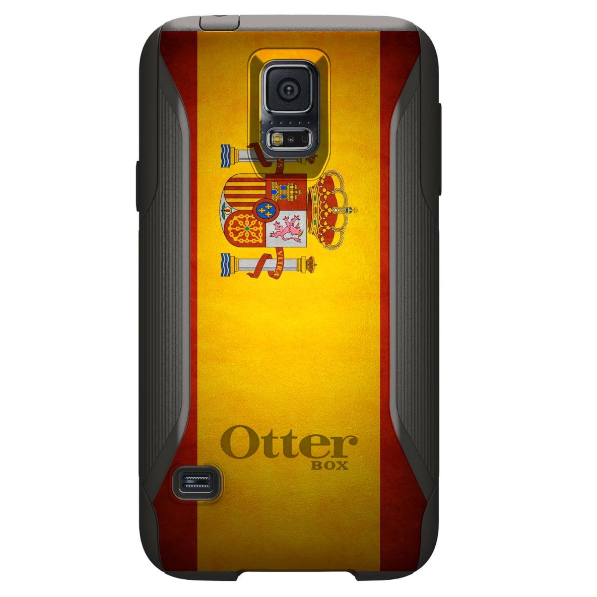 DistinctInk Custom Black OtterBox Commuter Series Case for Samsung Galaxy S5...