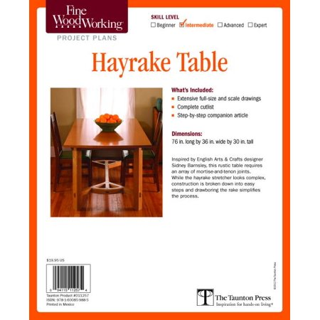 Fine Woodworking's Hayrake Table Plan (Other)