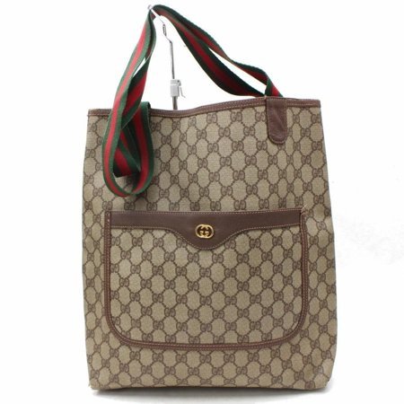 Monogram Canvas Tote (Monogram Large Web Shopping 867528 Brown Coated Canvas)