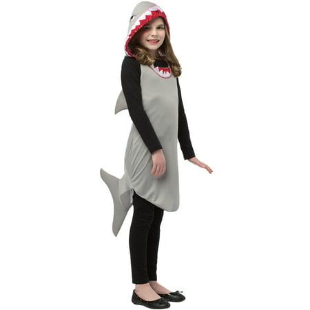 Shark Dress Child Halloween Costume, One Size, (7-10)](Kids Shark Halloween Costume)