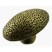 Strategic Brands 15310 2 in. Brass Antique Hammered Egg Knob