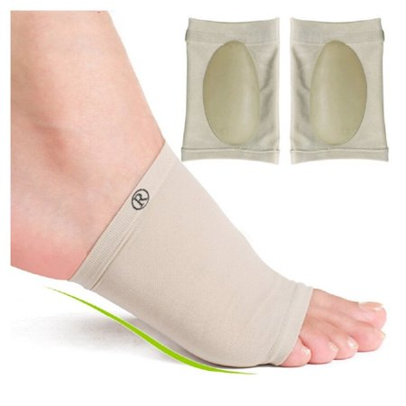Plantar Fasciitis Arch Support Compression Foot Sleeves – Foot Wrap with Gel Cushions for the Ultimate in Plantar Fasciitis and Flat Foot Pain Relief