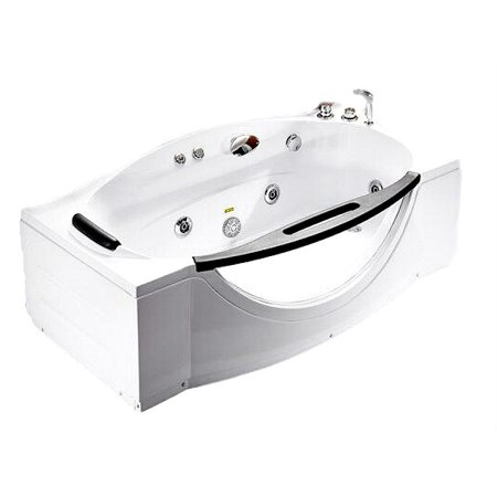 - 68 Inch White View Window Bathtub Whirlpool Jetted SPA Tub Massage Air Jets, Shower Wand, In-line Heater, Faucet, Blutooth Audio, Ozonator, LCD Controls, Model SD027A
