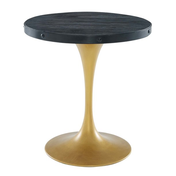 28 Round Wood Top Dining Table Black, 28 Round Table