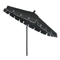 Better Homes & Gardens Scalloped 7.5 Push-Up & Tilt Patio Umbrella