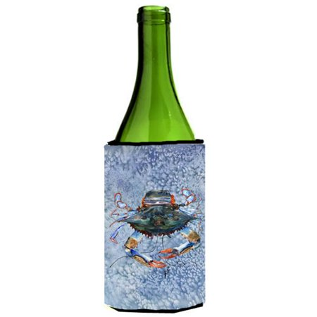 Female Blue Crab Cool Blue Water Wine Bottle   Hugger