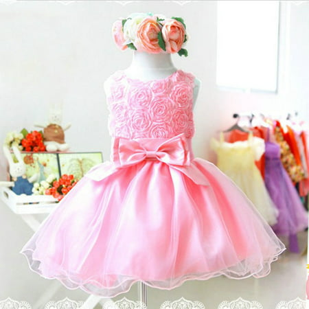 Kacakid Baby Girl Flower Princess Dress Birthday Wedding Bridesmaid Pageant Tulle Dress