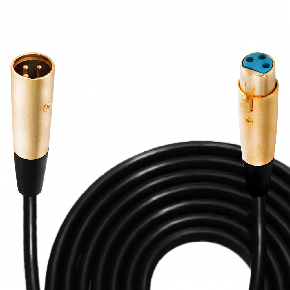 Rockville RCXMB20Y 20/' Male REAN XLR to 1//4/'/' TRS Cable Yellow 100/% Copper