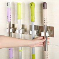 Mosunx Wall Mounted Mop Organizer Holder Brush Broom Hanger Storage Rack Kitchen Tool