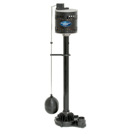 Superior Pump 1/3 HP Pedestal Sump Pump (Best Water Powered Backup Sump Pump)