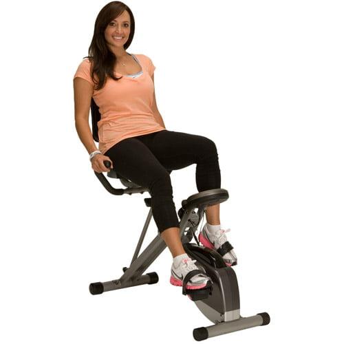 Exerpeutic Folding Recumbent Exercise Bike with Pulse