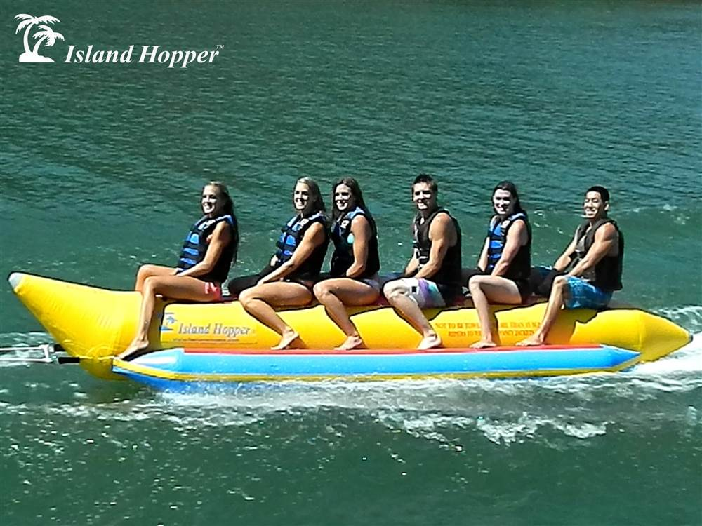 6-Passenger Inline Heavy-Duty Banana Boat In Yellow by Aqua Sports Technology