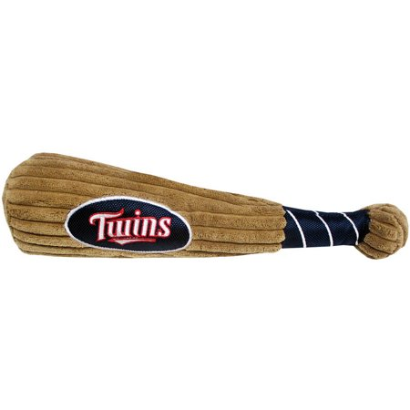MLB MINNESOTA TWINS BAT TOY for DOGS & CATS. 29 MLB Teams available. - Plush PET TOY with inner SQUEAKER. Officially Licensed Baseball BAT. (Pet Bat)
