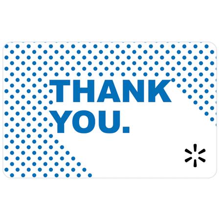 Thank You Dots Walmart eGift Card