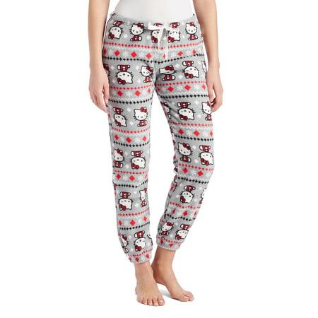 11a8c9f94 Hello Kitty - Women's Hello Kitty Christmas Fleece Pajama Pants -  Walmart.com