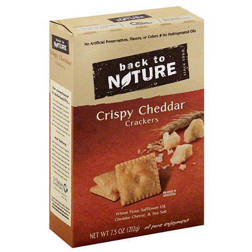 Back to Nature Crispy Cheddar Crackers, 7.5 oz, (Pack of 6)