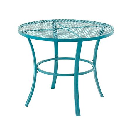 Decmode diamond band panel 36 in round metal patio dining table this button opens a dialog that displays additional images for this product with the option to zoom in or out watchthetrailerfo