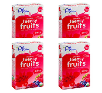 (4 Pack) Plum Organics Teensy Fruits Berry, 1.75oz