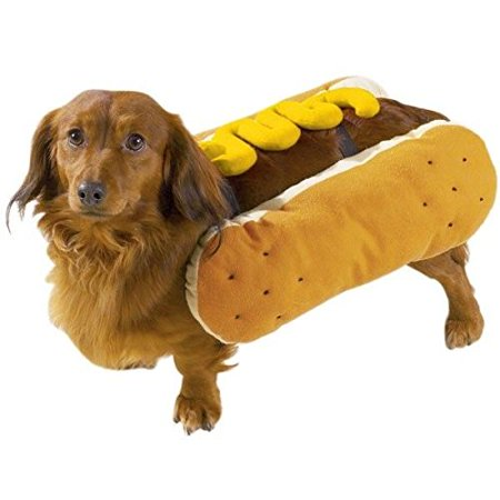 HOT DOG COSTUMES for DOGS Mustard and/or Ketchup Available in Three Sizes ! (Medium - Ketchup And Mustard Costume