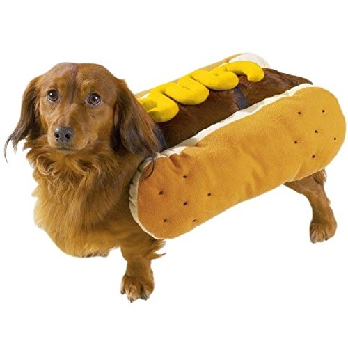 HOT DOG COSTUMES for DOGS Mustard and/or Ketchup Available in Three Sizes ! (Small Mustard)
