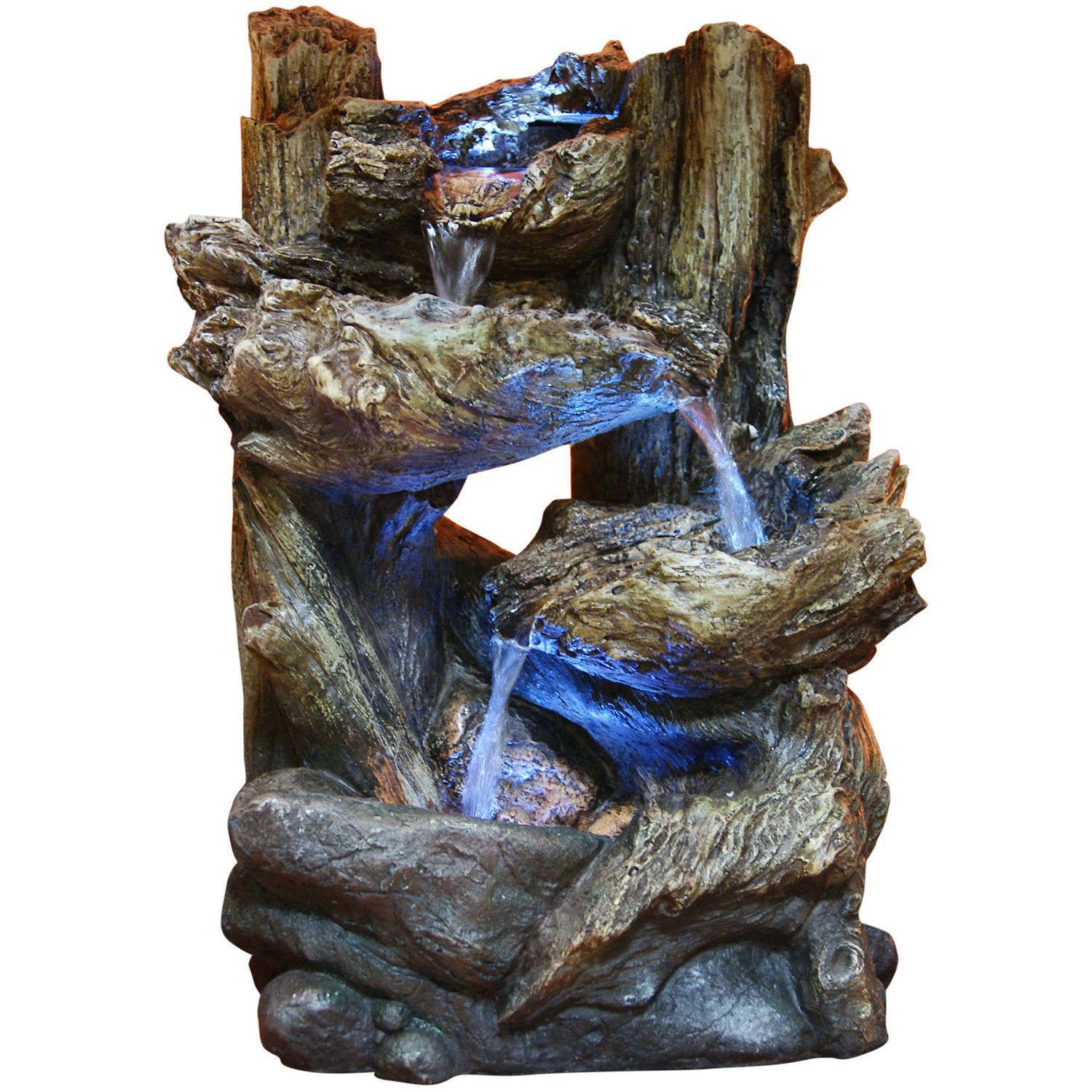 "14"" Tiering Rainforest Fountain with LED Lights, Small"