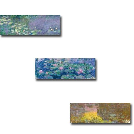 Morning I, Waterlilies & Waterlilies - Setting Sun by Claude Monet Premium Gallery-Wrapped Canvas Giclee Art Set - Ready-to-Hang, 12 x 24 x 1.5 in. - image 1 of 1