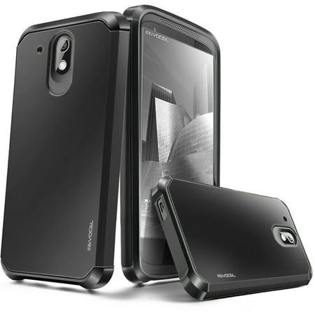 HTC Desire 526 Case, Evocel [Lightweight] [Slim Profile] [Dual Layer] [Smooth Finish] [Raised Lip] Armure Series Phone Case for HTC Desire 526, Black ()