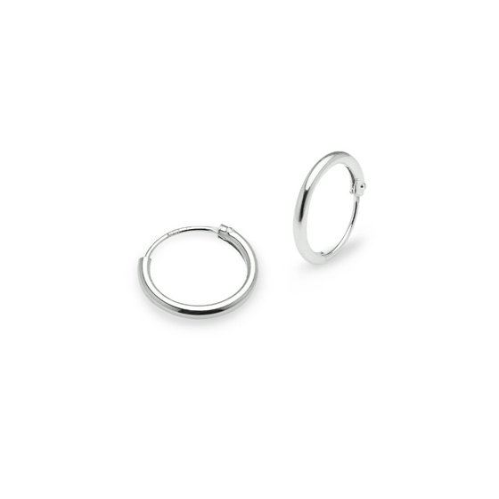 0548f41ad These attractive set of three earrings showcase polished, polished with bead  and bali bead sterling silver endless hoops. Hoops measure as follows: ...