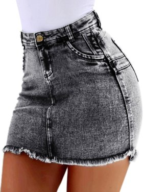 9a776fe80b Product Image Sexy Womens Casual Denim Jean Mini Skirt Summer Slim Fitted  Bodycon Short Mid Rise Button Zipper
