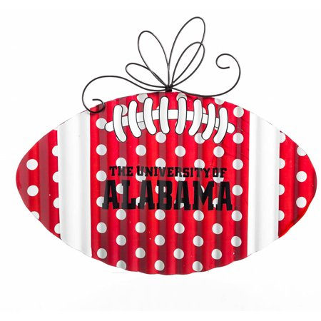 Alabama crimson tide corrugated metal football door decor for Al ahram aluminium decoration