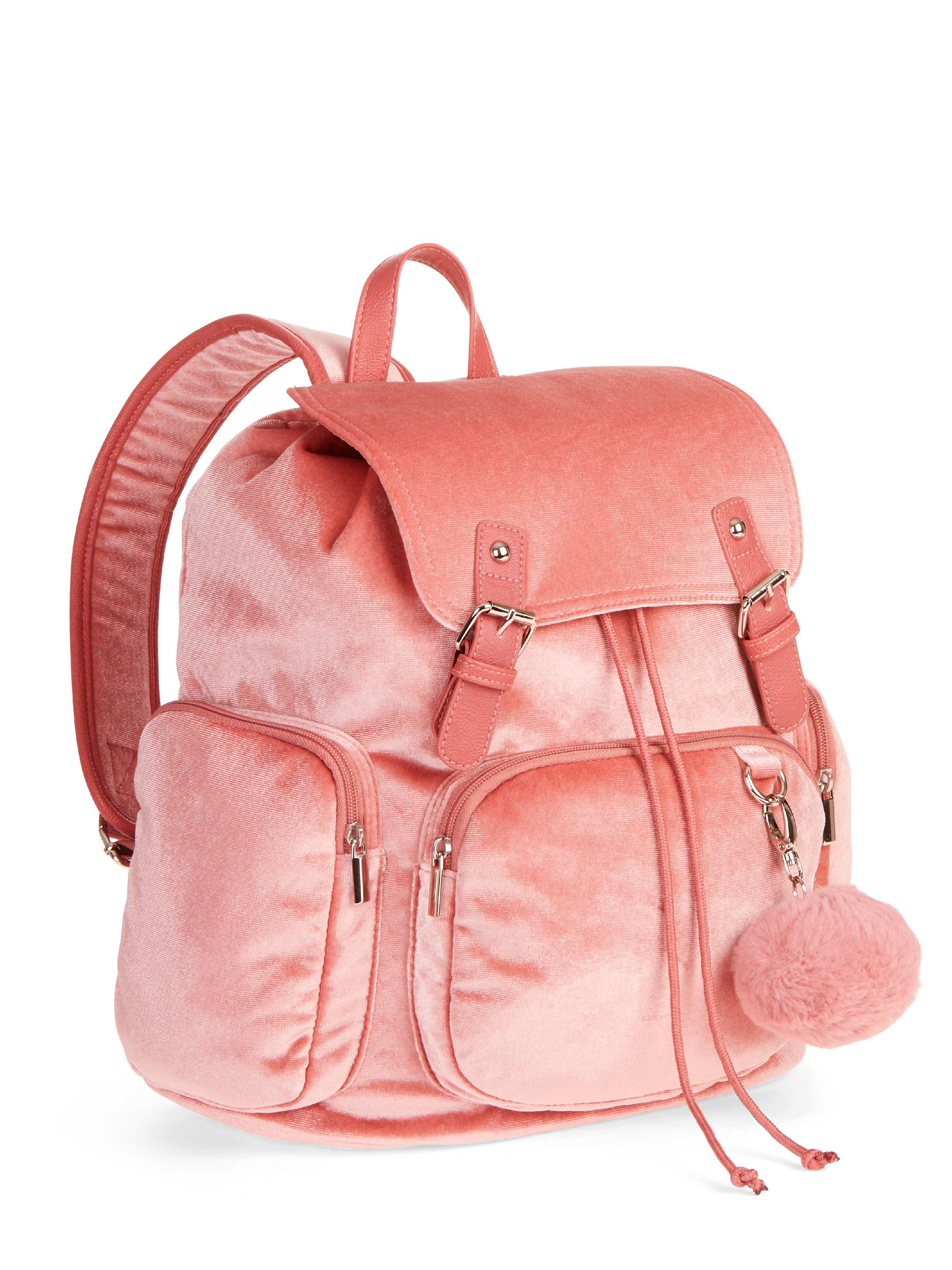 b7c7872e5d4b No Boundaries Blush Velvet Cargo Backpack – Walmart Inventory ...