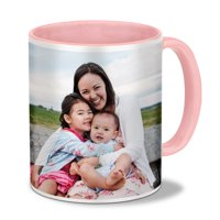 Customizable Photo Mug, Pink 11oz