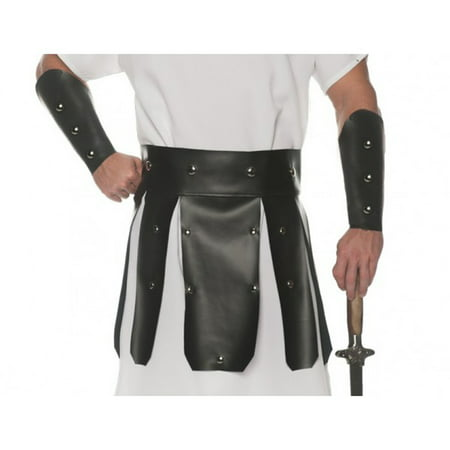 Black Roman Mens Adult Soldier Greek Warrior Costume Belt Set-Blk](Roman Solider Costume)