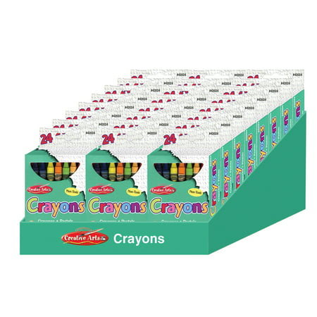 Multi Point Crayons (Creative Arts™ Crayons - Assorted Colors - 24/Bx, 24 boxes with a Shelf)