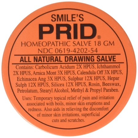 Smile's PRID Drawing Salve, Natural Homeopathic Topical Pain and Irritation Reliever, 18 gm, FAST RELIEF OF PAIN & IRRITATION: fast acting drawing.., By Hylands Homeopathic