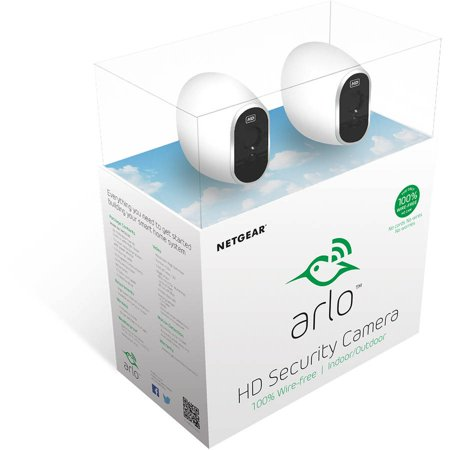 Arlo HD Security Camera - 2 HD Camera Security System, 100% Wire-Free, Indoor/Outdoor Cameras with Night Vision (VMS3230)