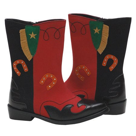 L'Amour Red Black Fringe Fashion Boot Toddler Girl 7 - Little Girl 4