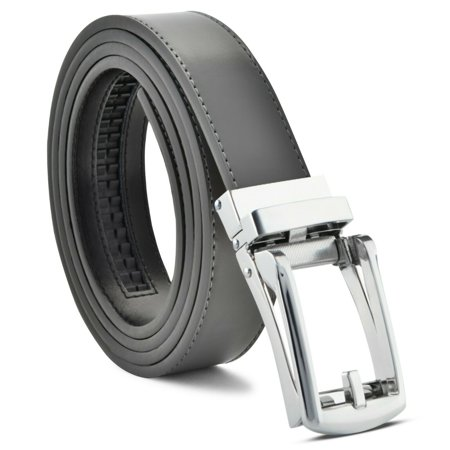 Belts For Men Ratchet Dress Leather Belt Custom Fit, Automatic Belt Buckle, No (B Low The Belt Double Buckle Belt)