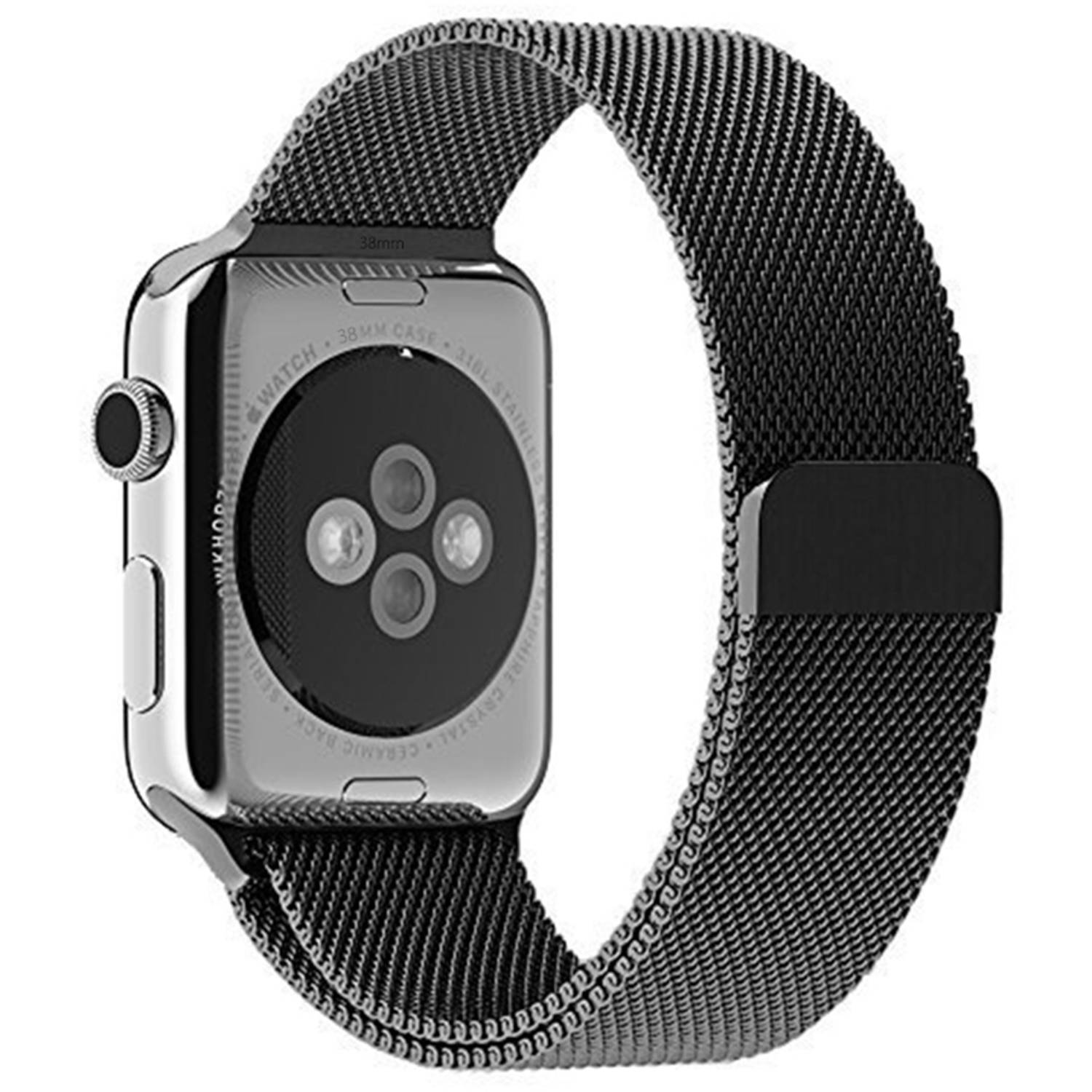 JETech 38mm Milanese Loop Stainless Steel Bracelet Strap Band Replacement Band for Apple Watch Series 1 and 2