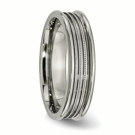 Titanium Grooved Beaded 6mm Wedding Ring Band Size 12.00 Fashion Jewelry For Women Gifts For Her - image 5 of 10
