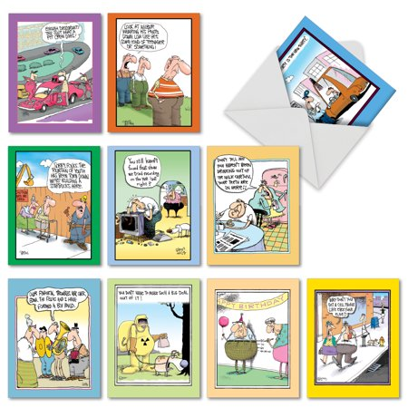 M6617BDG MCCOY BROS. CUTUPS' 10 Assorted Birthday Greeting Cards Featuring an Assortment of Popular and Hilarious McCoy Brothers Cartoons, with Envelopes by The Best Card