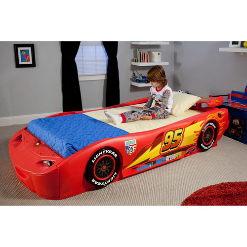 Disney Cars Lightning McQueen Twin Bed with Lights by Disney