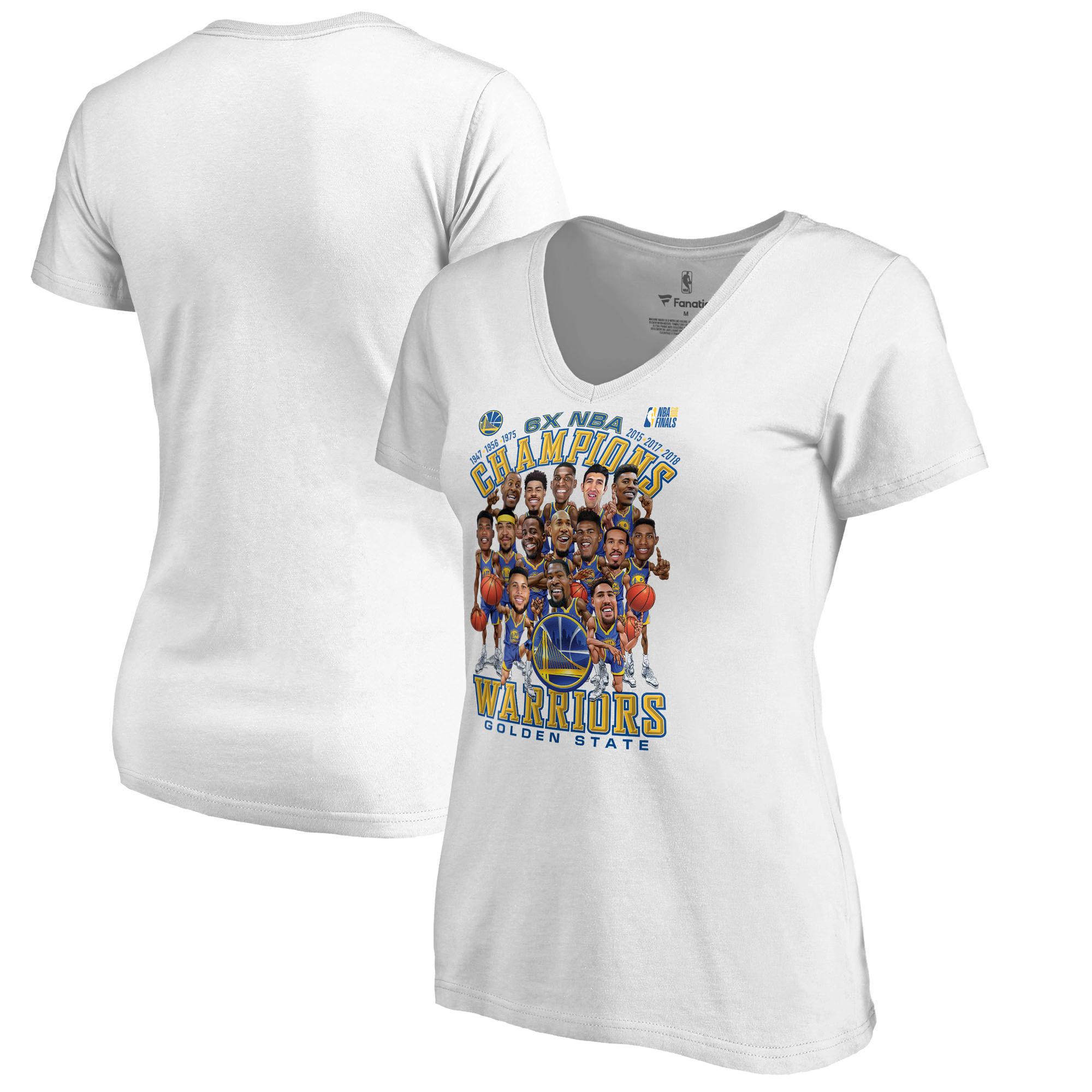 Golden State Warriors Fanatics Branded Women's 2018 NBA Finals Champions Caricature T-Shirt - White