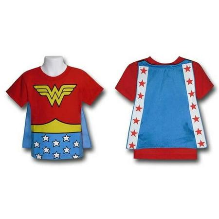 Wonder Woman Toddler Kids Child Costume Cape T-Shirt New DC Comics - Kids Wonder Woman Shirt