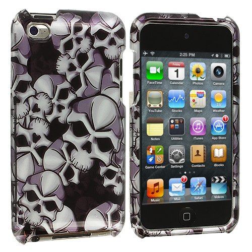 Design Crystal Hard Case for Apple iPod Touch 4th Gen - Skull