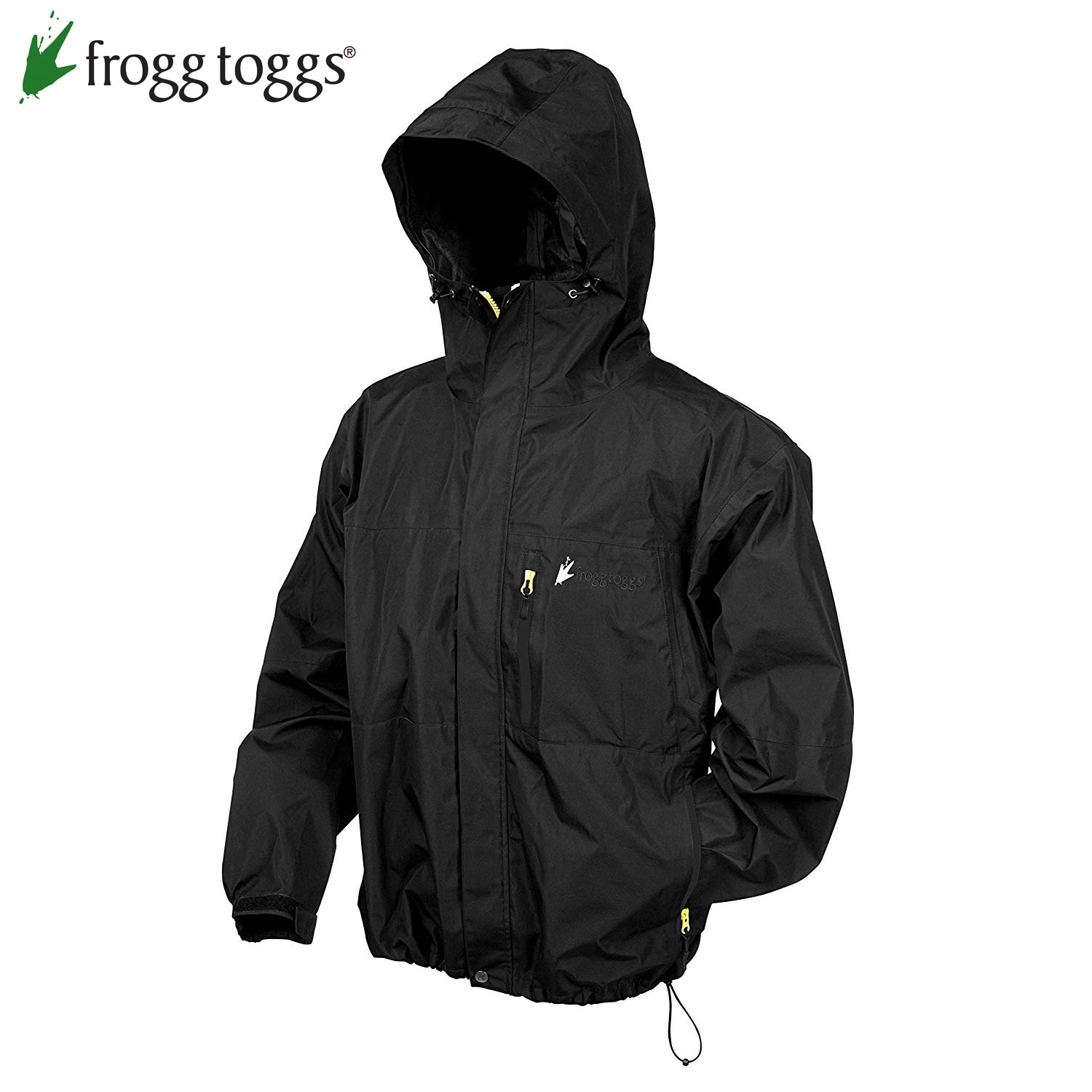 Frogg Toggs Toad Rage II Jacket (L)- Black/Lime