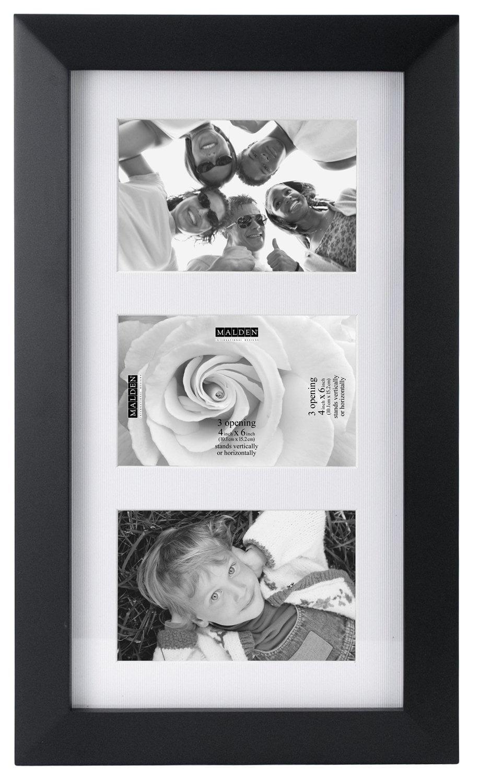 Malden International Designs Berkeley Matted Black Wood Collage ...